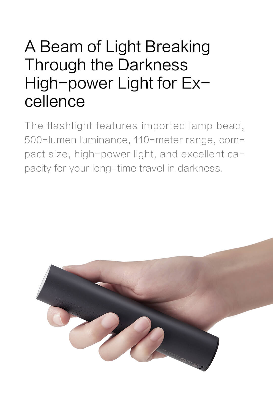 ZMI Portable High-Power Flashlight 5000mAh Power Bank - IPX6 Waterproof