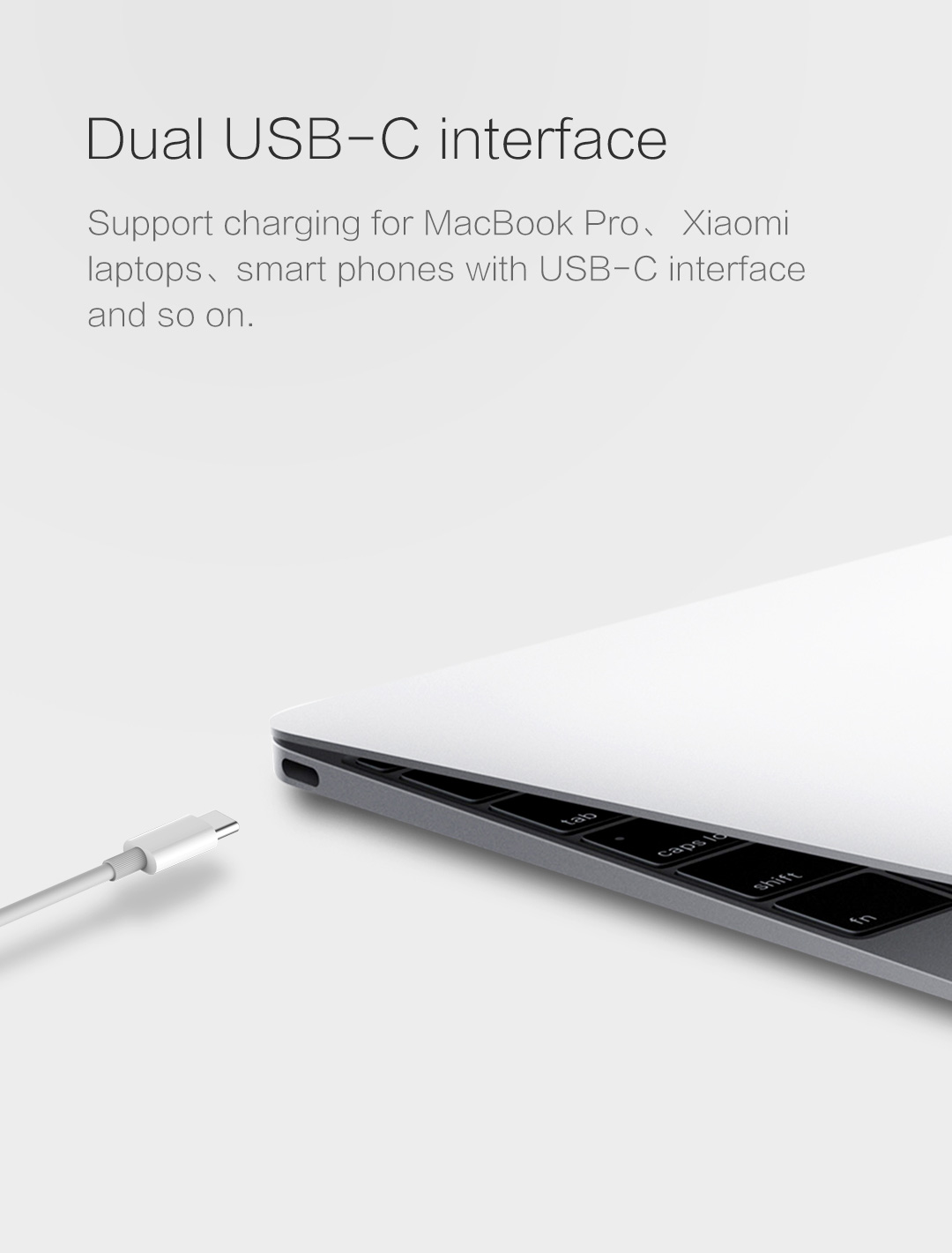 [2-Pack] ZMI USB-C to USB-C Cable 3A/60W Rating 5ft
