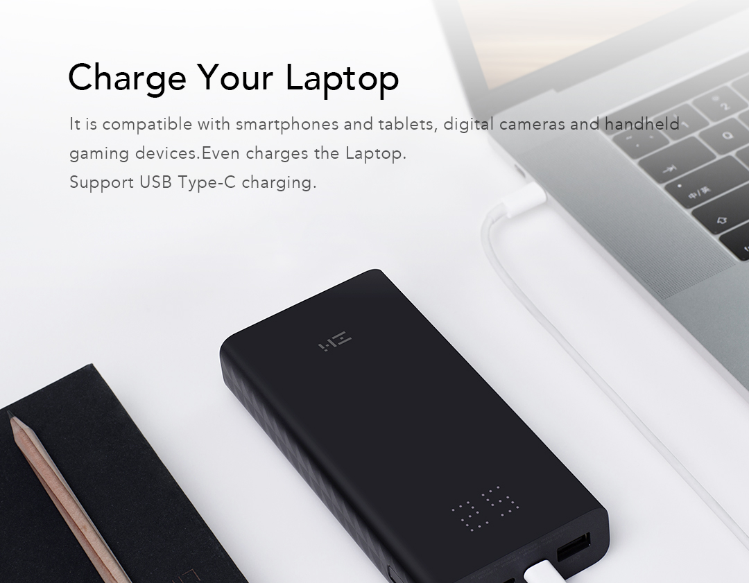 ZMI PowerPack Aura 20K – 20000 mAh USB-C PD Power Bank (27W)