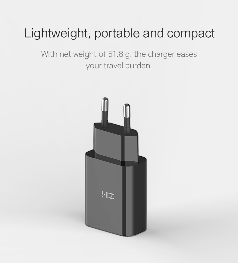 [2-Pack] ZMI zPower Turbo 18W Quick Charge 3.0 Wall Charger
