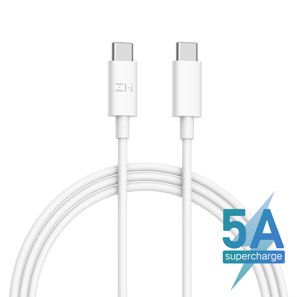ZMI 5A 100W USB Type-C to Type-C Cable - White