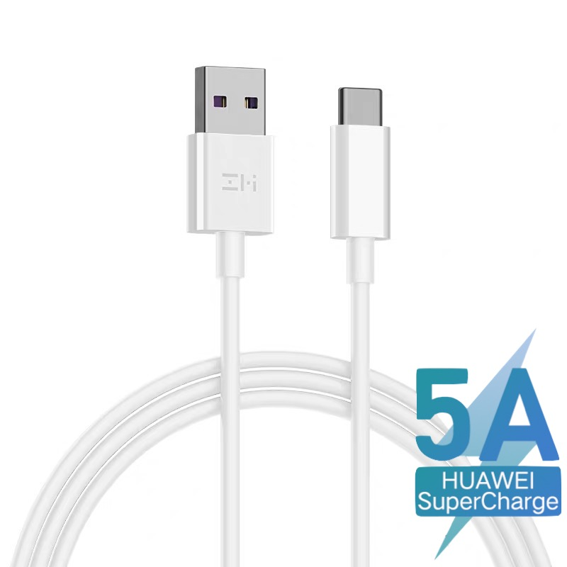 ZMI 1m- 5A USB A to Type-C Cable (with Huawei SuperCharge Protocol) - White