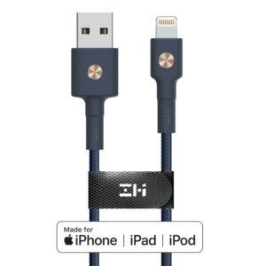 ZMI 2.4A USB Type-A to MFi LightningBraided Nylon Cable - Blue