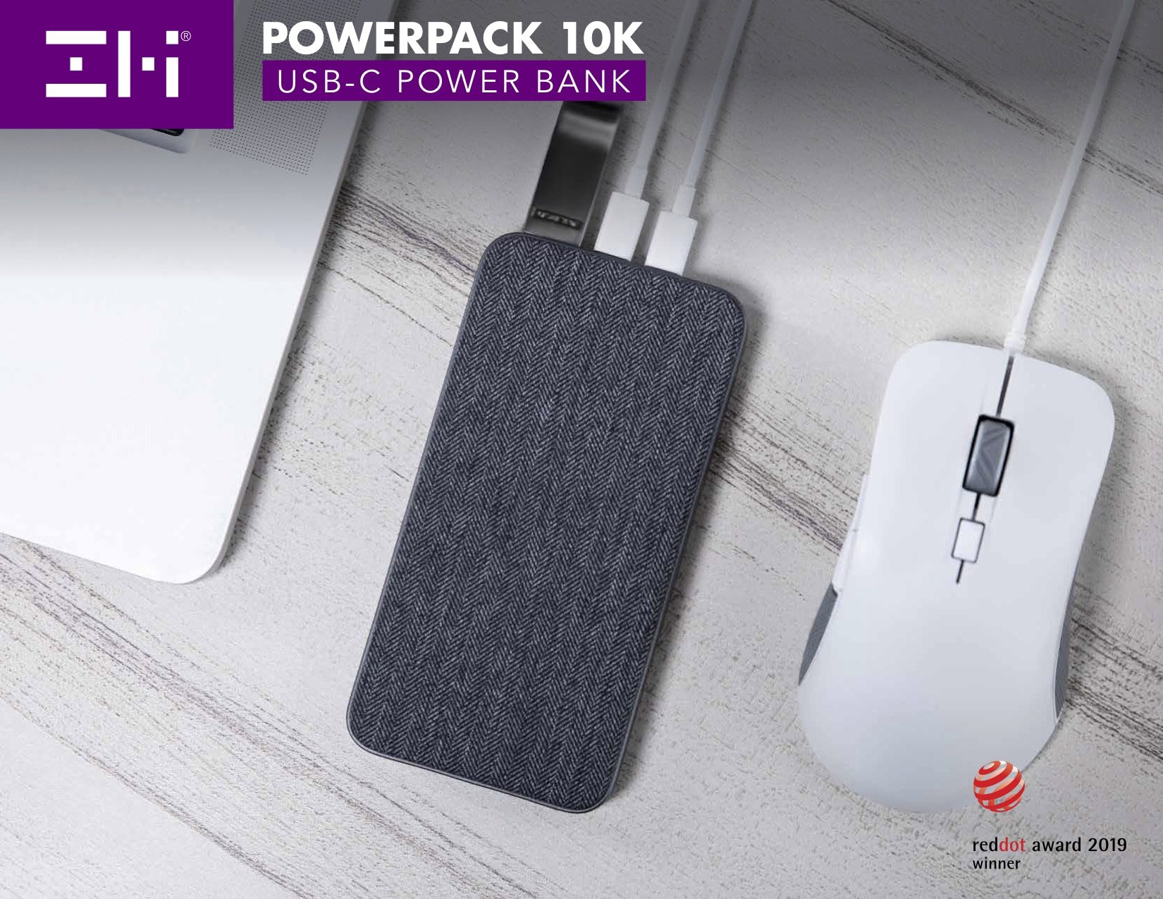 ZMI PowerPack 10K USB-C Power Bank (iPhone Cords Sold Separately)